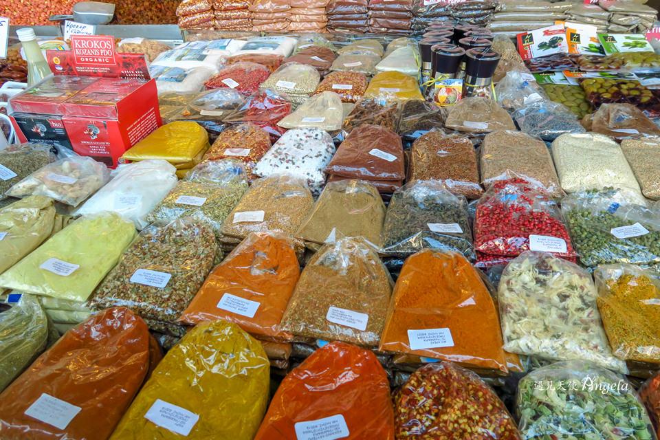 雅典中央市場購物