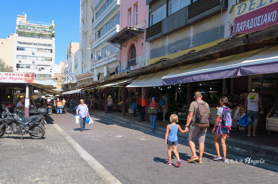 雅典中央市場蔬果區