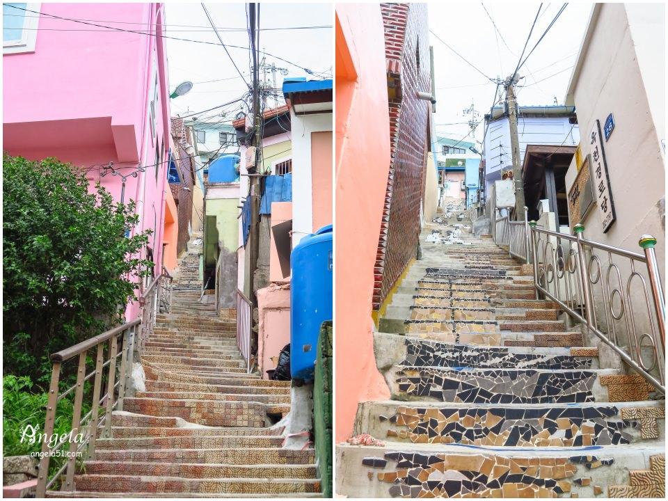 甘川洞文化村彩繪樓梯