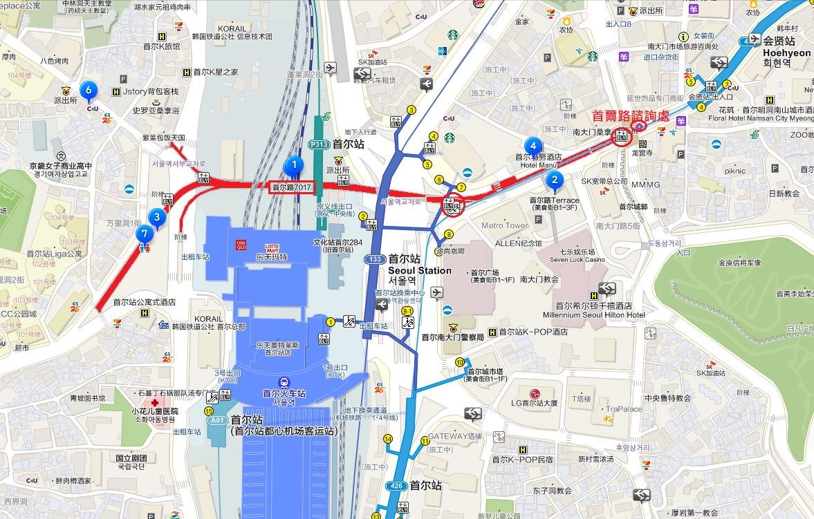 首爾路地圖