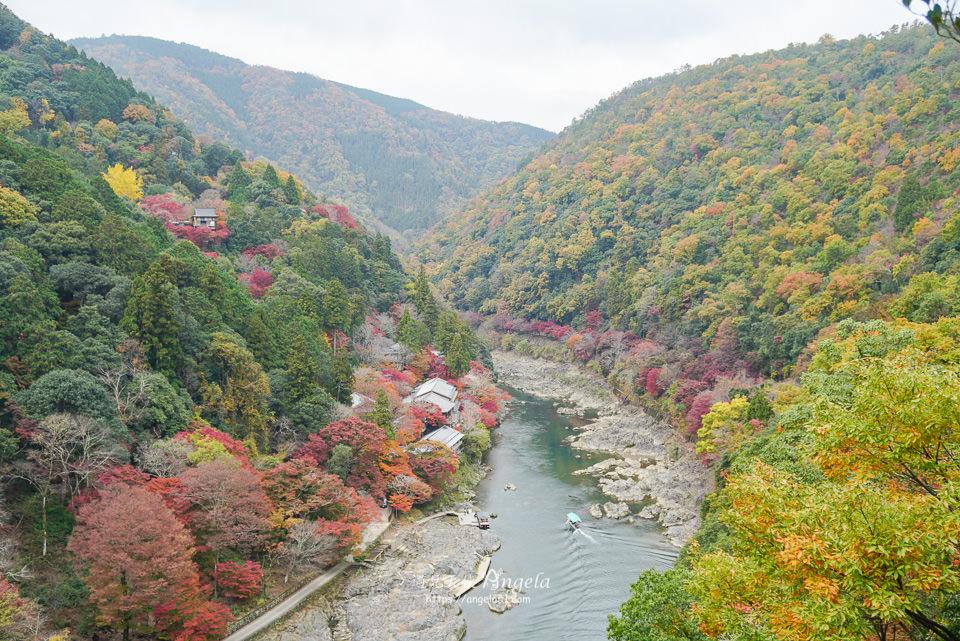 嵐山紅葉美翻天