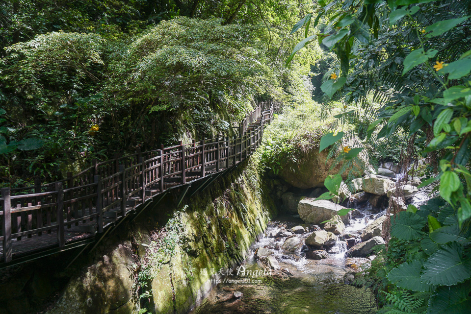 尖石景點老鷹溪瀑布
