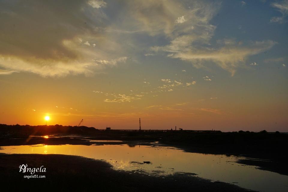 挖子尾夕陽