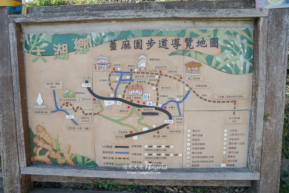薑麻園步道路線圖