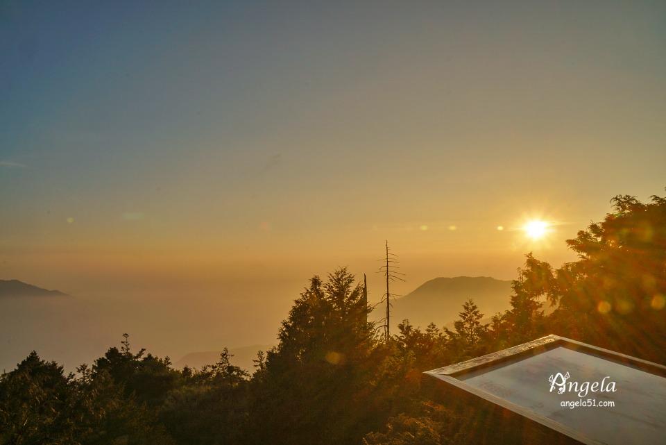 大雪山夕陽