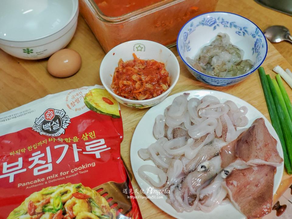 韓式泡菜海鮮煎餅做法