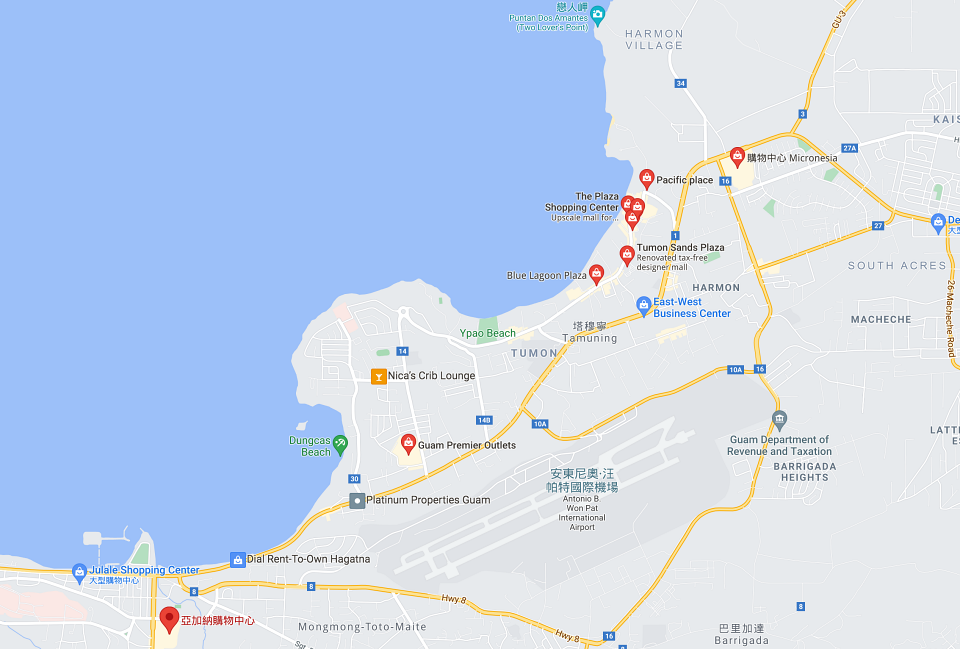 關島購物中心位置