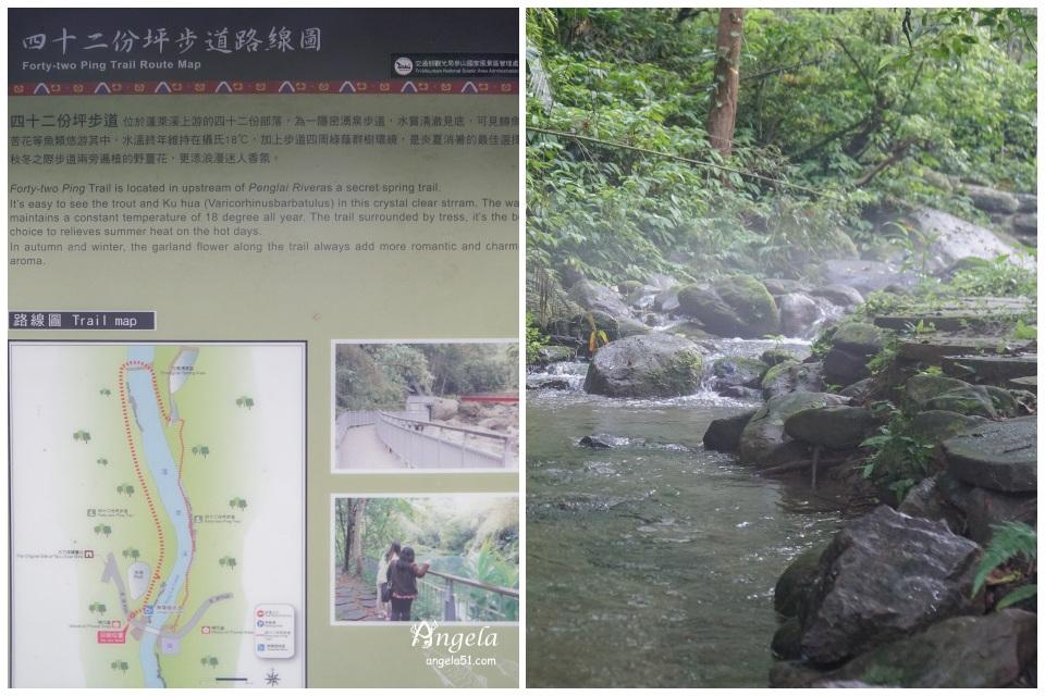 四十二份坪步道護魚步道路線圖